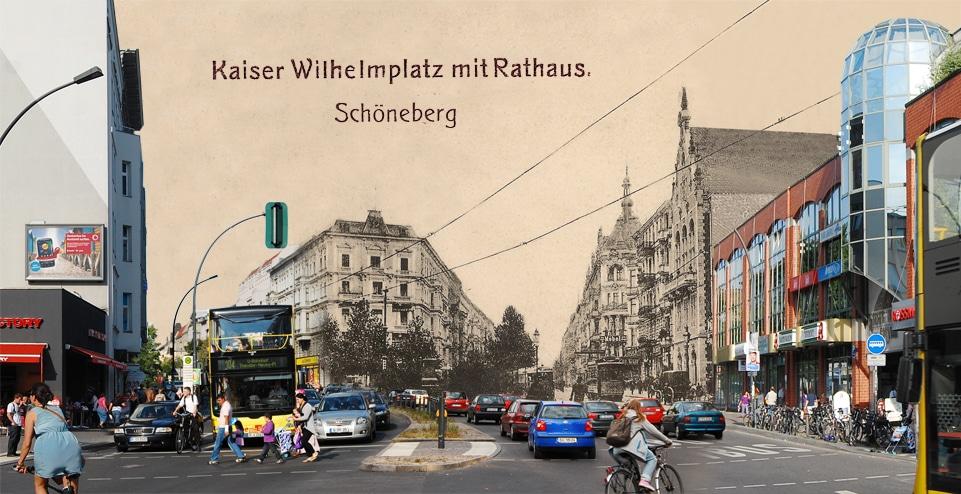 Kaiser Wilhelm Platz Vor 100 Jahren Montage Alt Und Neu Gruss