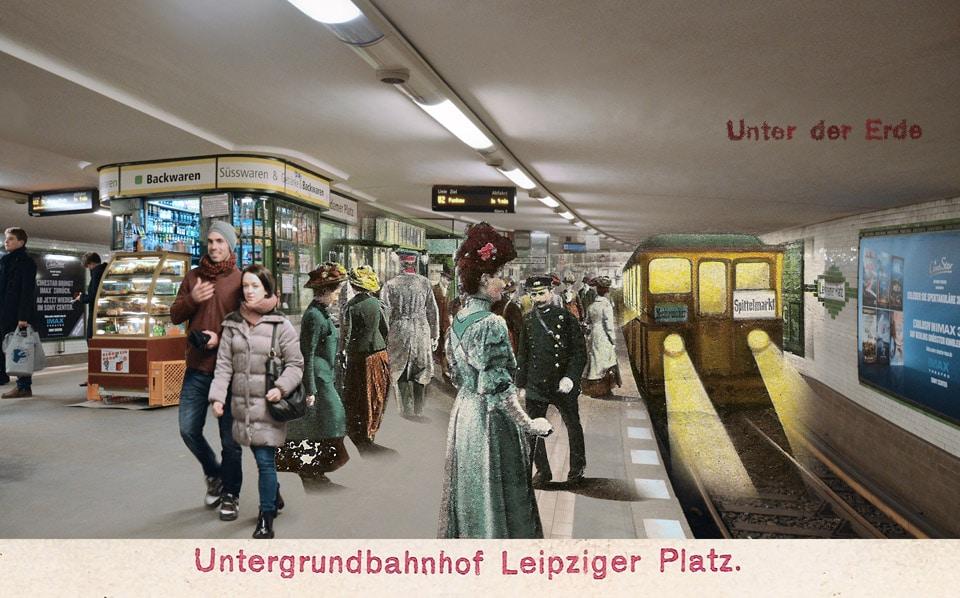 Leipziger Platz Untergrundbahn Zeitreise