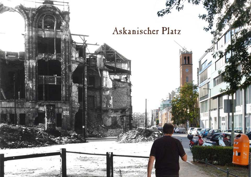 Berlin Askanischer Platz Bernburger Strasse 1945 2015 Zeitreise