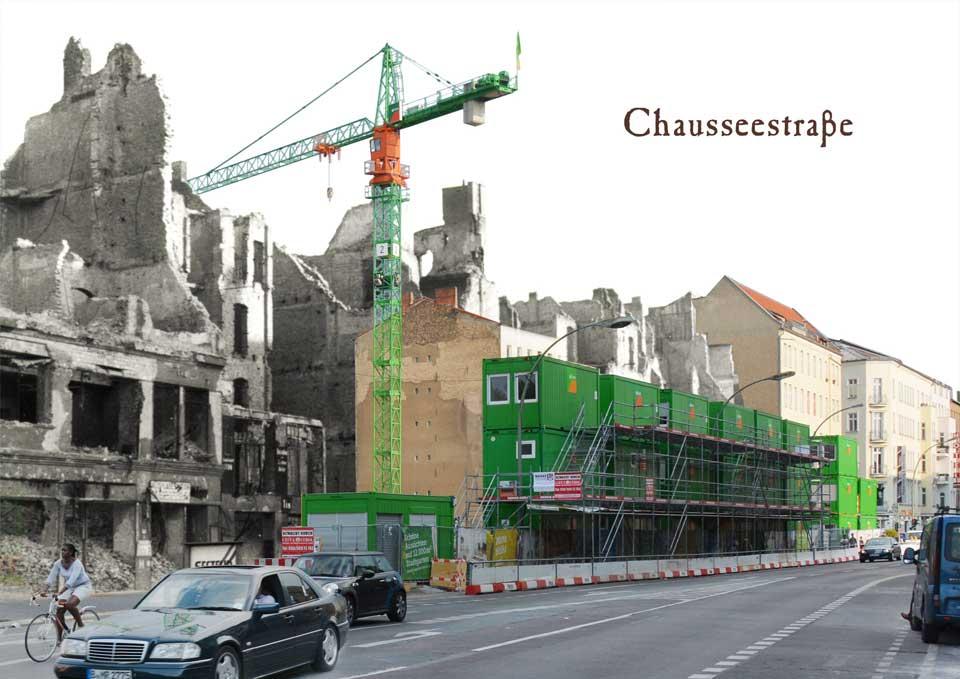 Berlin Chausseestrasse 1945 2015 Zeitreise