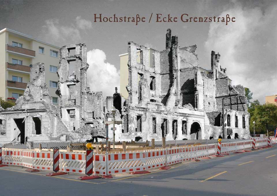 Berlin Hochstrasse Grenzstrasse 1945 2015 Zeitreise