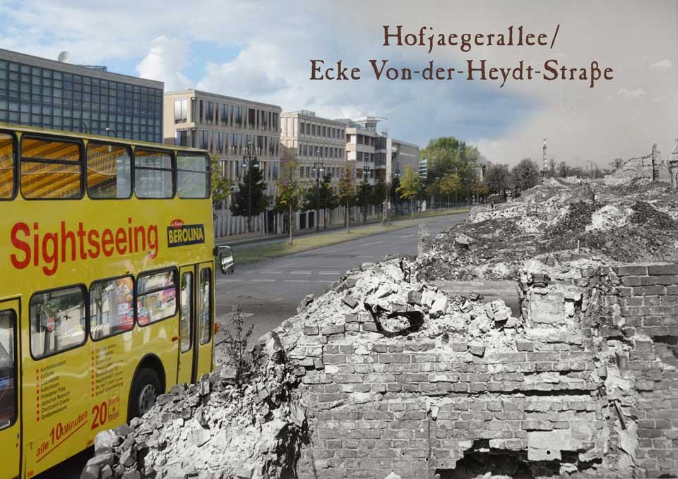 Berlin Hofjägerallee Von der Heyd Strasse 1945