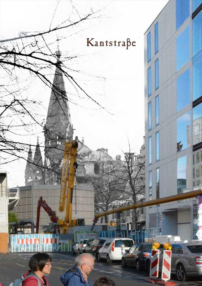 Berlin Kantstrasse Gedächtniskirche 1945 2015 Zeitreise