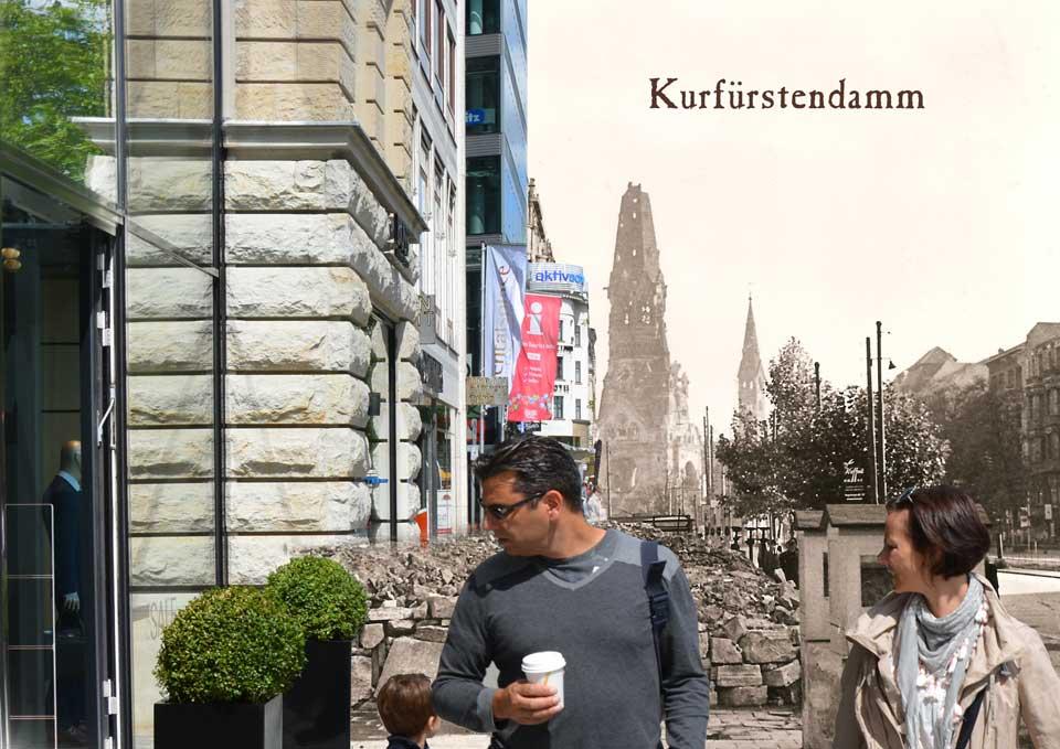 Berlin Kurfürstendamm 1945 2015 Zeitreise