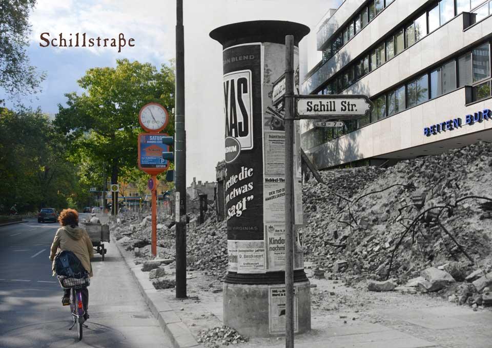 Berlin Kurfürstenstrasse Schillstrasse 1945 2015 Zeitreise