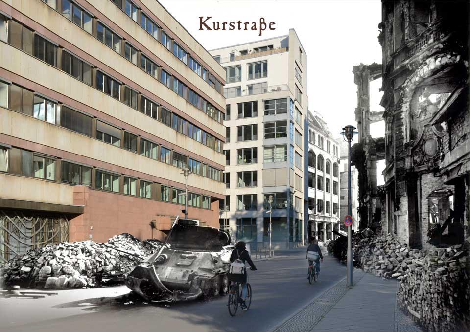 Berlin Kurstrasse 1945 2015 Zeitreise