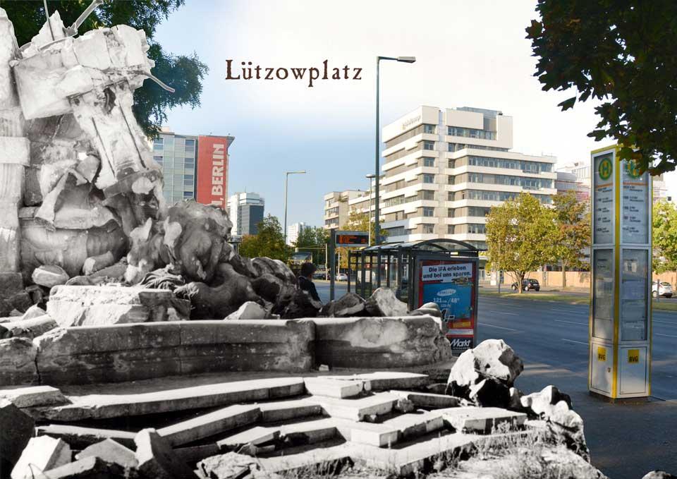 Berlin Luetzowplatz 1945 2015 Zeitreise