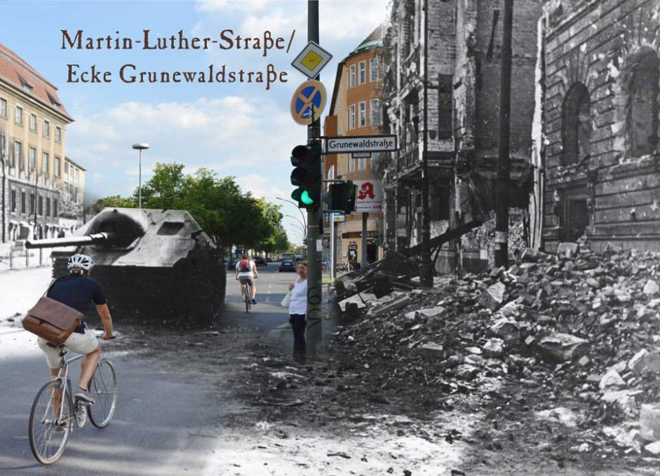 Berlin Martin-Luther-Strasse Grunewaldstrasse 1945