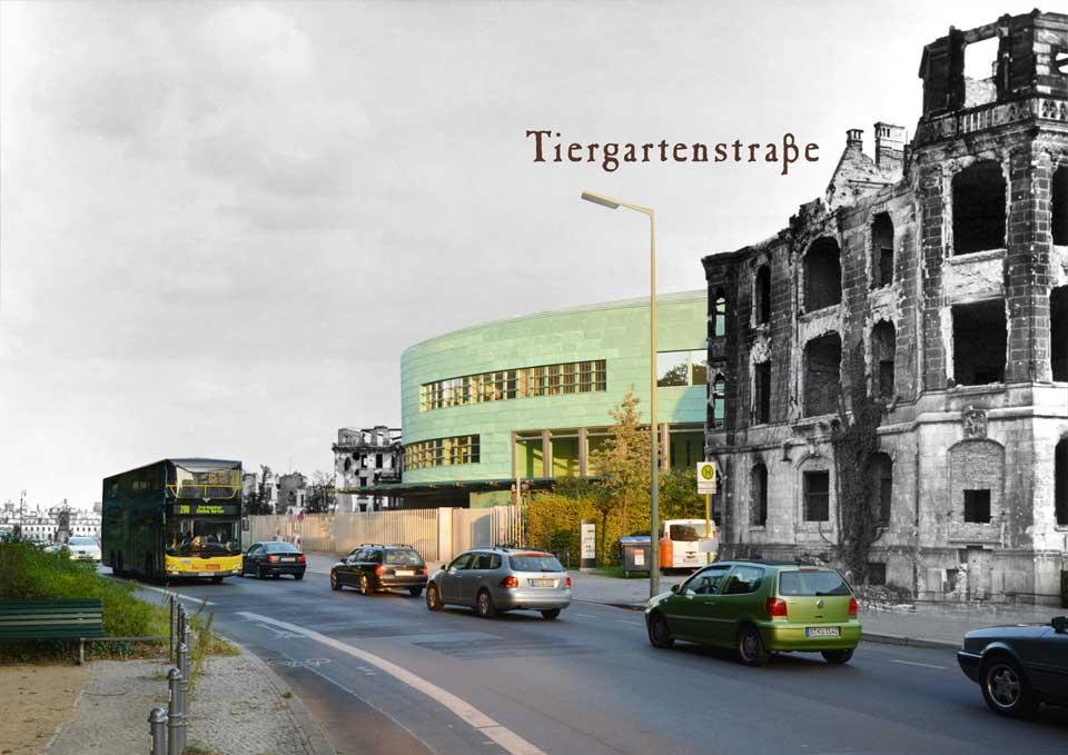 Berlin Tiergartenstrasse 1945 2015 Zeitreise