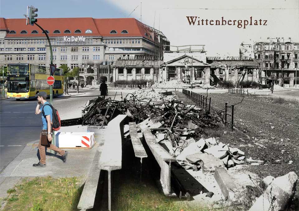 Berlin Wittenbergplatz 1945 2015 Zeitreise